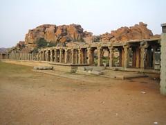 596. Hampi (14): Gold Market (profmpc) Tags: market hampi vijayangara rowsofshops krishnadevarayar goldanddiamond