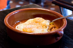 tripe-with-fried-eggs (food_in_mouth) Tags: food ny newyork eggs brunch tribeca tripe offal locandaverde
