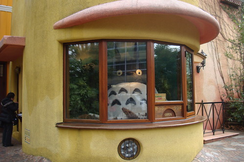 Totoro mans the ticket booth!