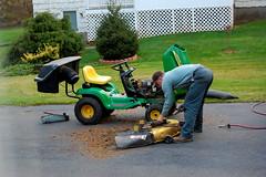 The John Deere Repairman (rbglasson) Tags: tractor nikon connecticut mower johndeere wethersfield d40 nikond40