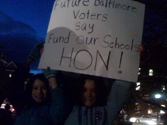 Roland Park Third Graders Protest Education Cuts
