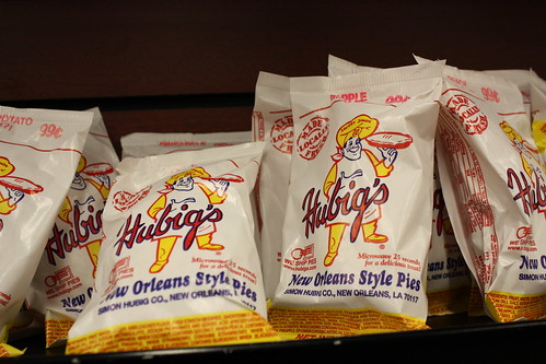 Hubrigs New Orleans Style Pies; Available flavors include peach, apple, and sweet potato.