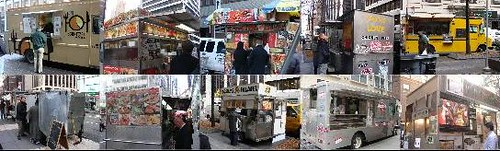 food cart tour collage