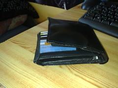 08032010112 (Wallet_85) Tags: black leather wallet jeans bulge backpocket fatwallet bulgebackpocket