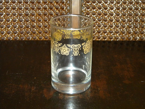 Butterfly Gold Juice Glass