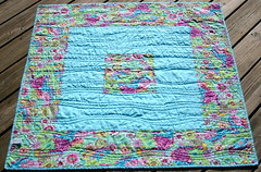 modern baby quilt - back