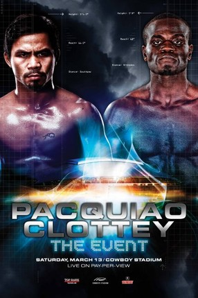 Pacquiao vs Clottey poster