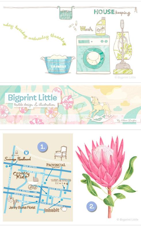 Lovely blogs: Bigprint Little