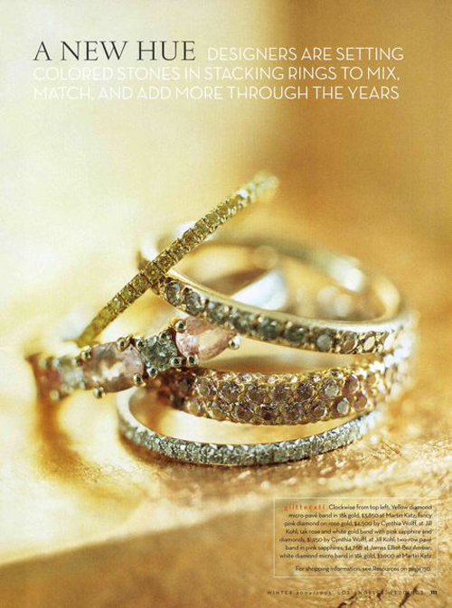 LAWeddings Magazine Pave Diamonds