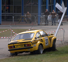 Opel Kadett GT/E Crash, Race Retro, Stoneleigh Park (dutts303) Tags: road park car race speed crash rally fast racing retro coventry quick warwickshire kenilworth opel motorsport kadett stoneleigh gte opelkadett stoneleighpark raceretro 03142010 14032010 14thmarch2010 opelkadettgtecrash
