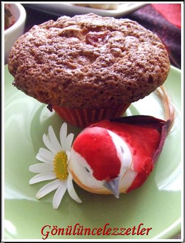 yaban mersinli hindistan cevizli muffin