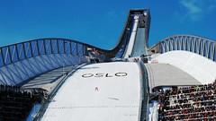 Oslo Holmenkollen Ski Jump preparing for OSL2011 #4
