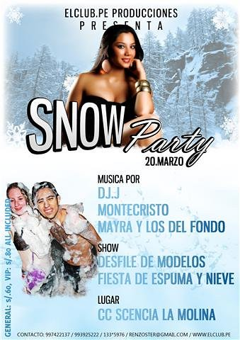 Snow Party - CC. Scencia La Molina