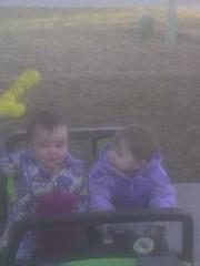 girls in a truck