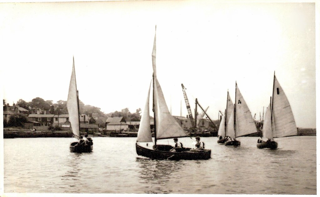 HMS Worcester RNSA (Royal Naval Sailing Association) Boats Greenhithe 1960s