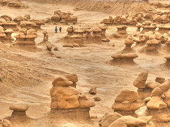 Who's that hiking among the goblins? (CarlBSr) Tags: utah explore goblinvalleystatepark canong9 74444mm