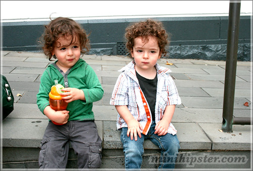 RAPHAEL and JACOB. MiniHipster.com: children's childrens clothing trends, kids street fashion, kidswear lookbook