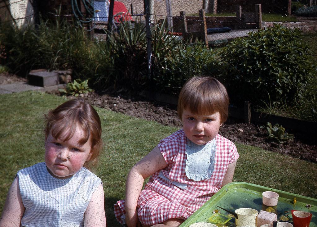 Alison Kerr and Christine Burns, Burnside,1966