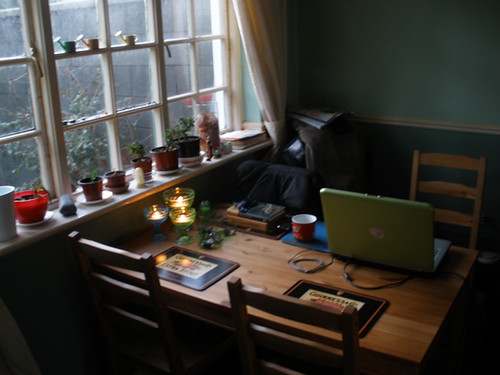Laptop corner