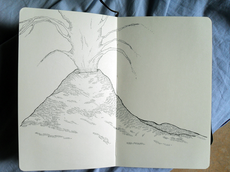 train drawings - volcano choir