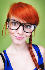 Plait (basistka) Tags: portrait woman nerd hair glasses poland redhead plait basistka