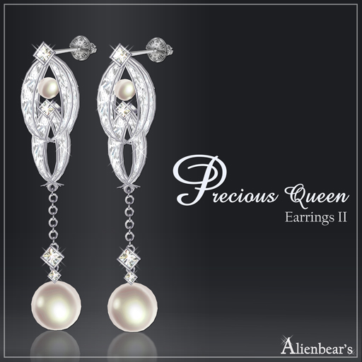Precious Queen Earrings II white