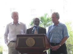 Clinton, Préval, Bush Press Conference