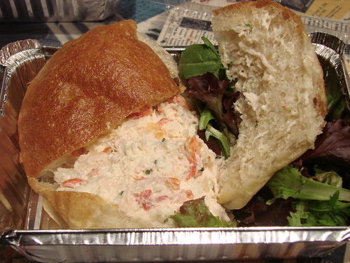 Dungeness Crab Salad Sandwich from the Oyster Bar