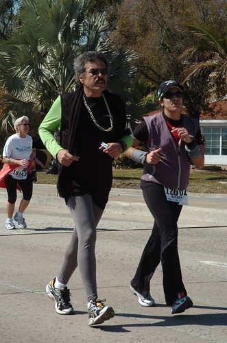 Gasparilla Marathon 2010 - Last 2 miles with Dad