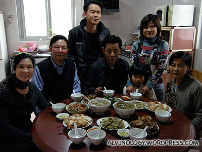 Nic with his relatives