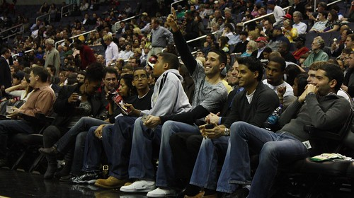 Greivis Vasquez, Maryland, courtside, NBA, Washington Wizards