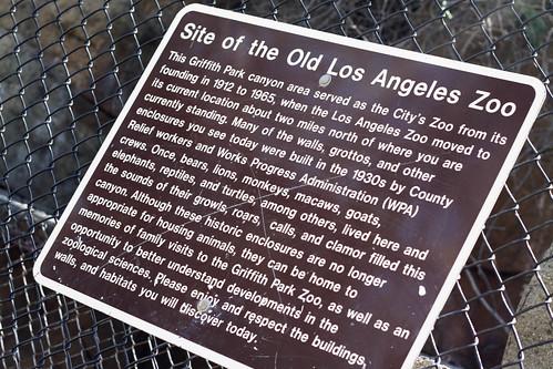 offbeat frontier: old LA zoo