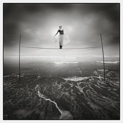 .rope. (Michal Giedrojc) Tags: ocean sea clouds dance circus dancer rope sune abigfave theunforgettablepictures bestofmywinners