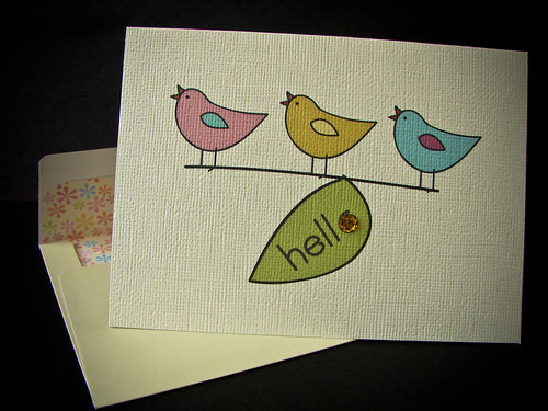 HELLO Card (3 Birds)
