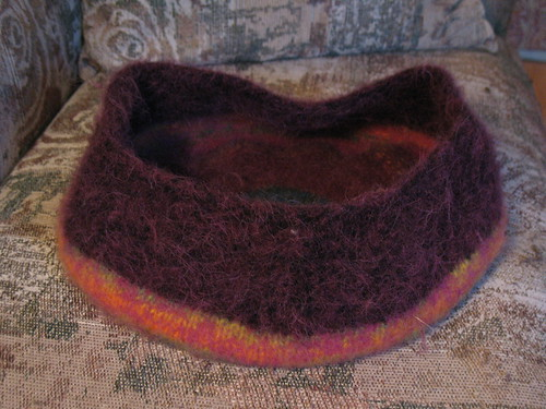 Yet another felted cat bed to be ignored