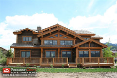 Custom Post and Beam Log Home | Exterior Elevation | PreciisonCraft Log Homes (PrecisionCraft Log & Timber Homes) Tags: pictures homes usa house mountain home architecture america design log cabin exterior unitedstates post photos id picture plan beam idaho deck logcabin northamerica custom plans architects residential luxury cabins loghouse roanokevalley logcabins loghome homebuilding loghomes mountainhomes mountaindesign outddoor loghomeplans precisioncraft lognbsphome lognbsphomes loghomedesign loghomedesigns customloghomedesigns postandbeamhomes loghomefloorplans idahohomes custommountaindesign mountainarchitects