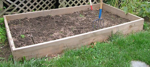 empty raised bed