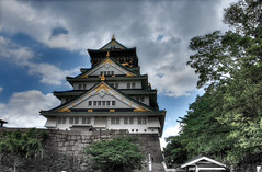 Osaka Castle (Sprengben [why not get a friend]) Tags: city wedding sky urban music art clouds skyscraper observation temple bay harbor amazing shrine asia waves ship artistic gorgeous awesome watch elevator style divine international stunning metropolis charming asakusa foreign fabulous emperor keio engaging travelphotography d3s sprengben