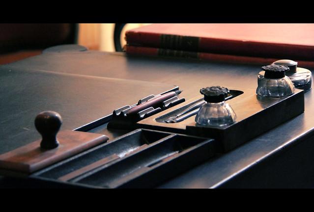 His pen