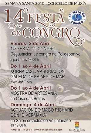 Festa do Congro de Muxía - 2010 - 14ª edición - Semana Santa Concello de Muxía - cartel