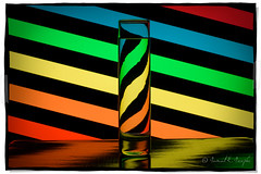 Rainbow Zebra (Proleshi) Tags: blue light red orange color reflection green water glass yellow azul rojo agua nikon colorful creative vivid colores h2o reflect refraction zebra column liquid multicolor d60 glassofwater deepcolor espectrosolar proleshi coloresdearcoiris