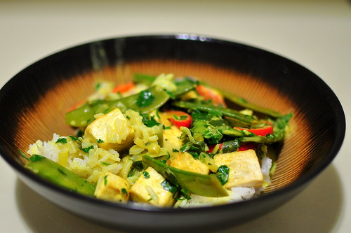 JAMIE OLIVER'S CURRY WITH TOFU