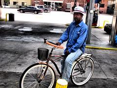 wheel good (angelnfreefall) Tags: whitewalls bikes bicycles steeringwheel classicbicycle suicideknob