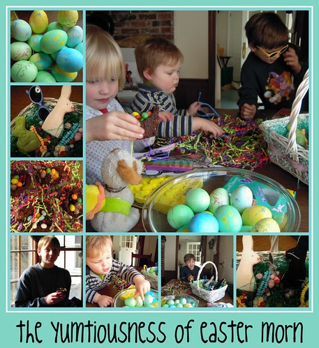 easter morning treats collage