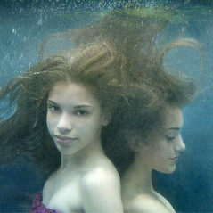 Portrait of my Daughters (Kathleen Wilke Photography) Tags: portrait texture sisters hair underwater g daughters bubbles e layer lotsa themonalisasmile thearcadiasociety
