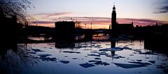 Stockholm: at the sunset... (Impressioni di luce) Tags: sunset panorama reflection ice church landscape tramonto stockholm chiesa riflessi stoccolma ghiaccio impressionidiluce