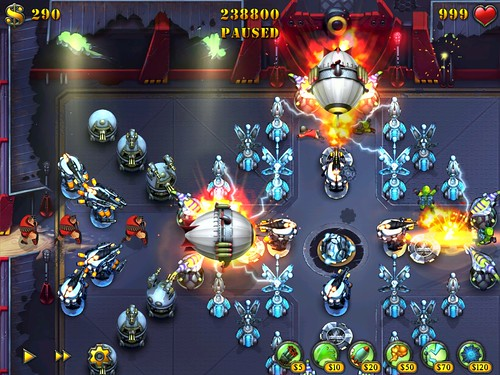 Screenshot Fieldrunners Crossroads iPad