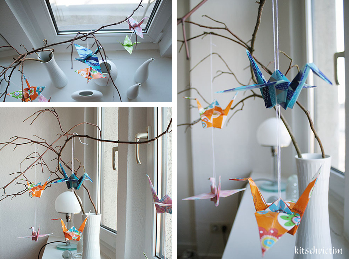 Spring Decoration Tutorial: Origami Paper Cranes From