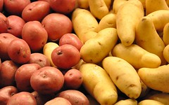 Potatoes (Buzz Hoffman) Tags: seattle washington farmersmarket potato pikeplacemarket