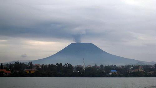 The active Nyiragongo Volcano In Goma, Congo